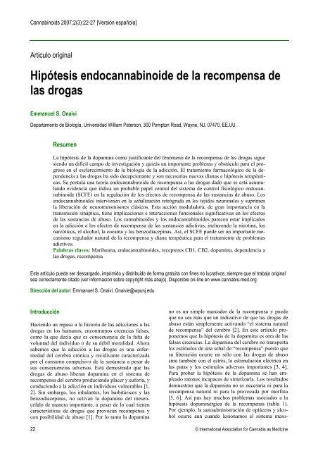 Hipótesis endocannabinoide de la recompensa de las drogas