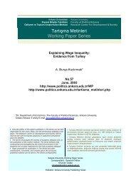 Explaining Wage Inequality: Evidence from Turkey - Siyasal Bilgiler ...