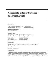 Accessible Exterior Surfaces - United States Access Board