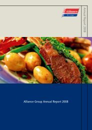 Annual Report 2008 Alliance Group Annual Report 2008