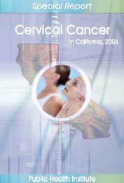 Cervical Cancer in California, 2006 - ResearchGate