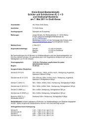 Kreis-Einzel-Bestenkämpfe Schüler und Schülerinnen B, C + D und ...