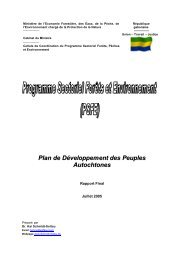 PSFE - Plan de Développement des Peuples Autochtones - PFBC