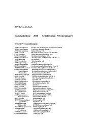 Kreisbestenliste 2008 Schülerinnen (93 und jünger):