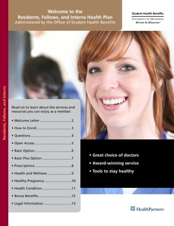 2011-2012 HP Enrollment brochure including Quick Reference Chart