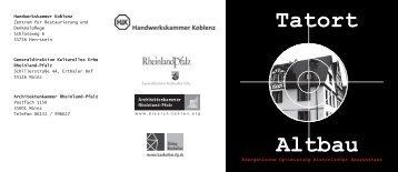 Tatort Altbau - Einladung - HAUSS.ROHDE architekten