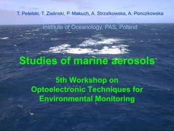 Studies of marine aerosols