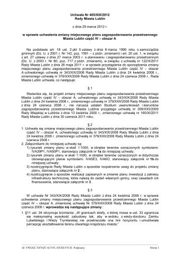 Uchwała nr 405/XIX/2012 - Lublin