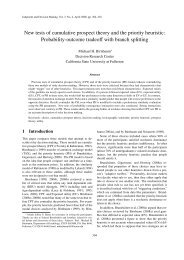 New tests of cumulative prospect theory and the priority heuristic ...