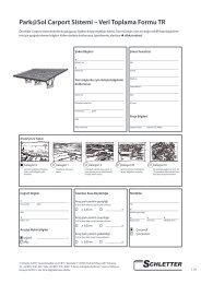 Park@Sol Carport Sistemi – Veri Toplama Formu TR - Schletter GmbH