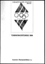 TOIMINTAKERTOMUS 1984