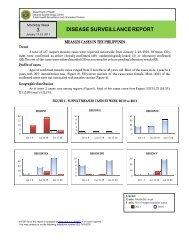 Measles Surveillance Report mwk#3 feb2011 - DOH