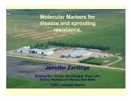 Molecular Markers for disease resistance and sprouting, and malting ...