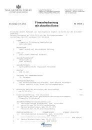 Firmenbuchauszug mit aktuellen Daten - FS1