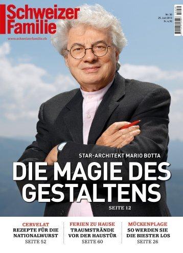 STAR-ARCHITEKT MARIO BOTTA - Schweizer Familie