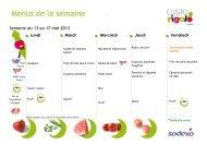 Menus Sodexo dans les écoles Mai Juin 2013 - Grasse