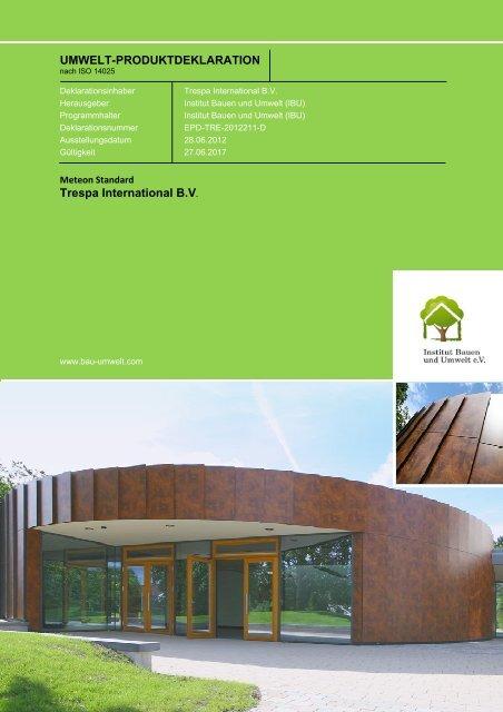 EPD-TRE-2012211-D - Institut Bauen und Umwelt