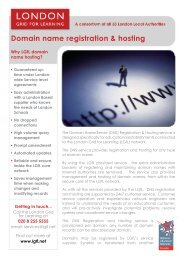 Domain name registration & hosting - London Grid for Learning