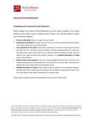 Personal Financial Statement - FirstCaribbean International Bank