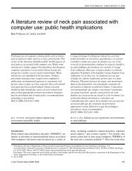 A literature review of neck pain associated with computer use: public ...