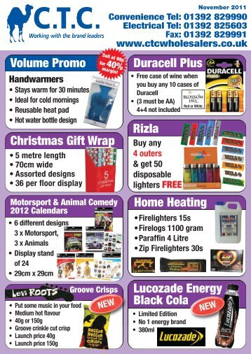 Volume Promo - CTC Wholesalers