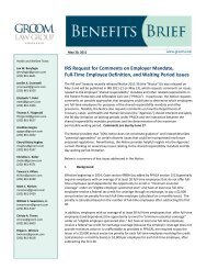 Memo: IRS Request for Comments on Employer Mandate, Full-Time ...