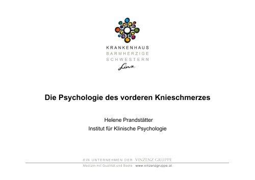 Die Psychologie des vorderen Knieschmerzes - Vinzenz Gruppe