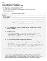 Employer Agreement with the Trustees - British Columbia Medical ...