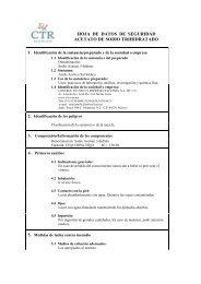 Acetato de Sodio Trihidratado MSDS - CTR Scientific