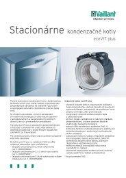 Stacionárne kondenzačné kotly - Vaillant