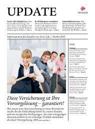 UPDATE Herbst 2012 - Swiss Life