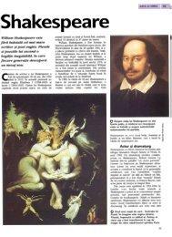 William Shakespeare este fiirii fndoialii cel mai mare scriitor ~i poet ...