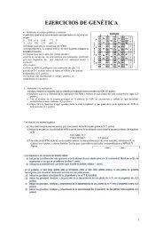 EJERCICIOS DE GENÉTICA - Biología El Valle