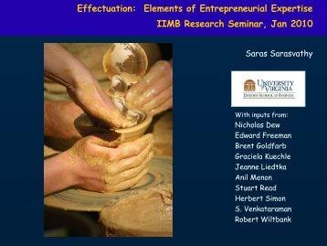 Effectuation: Elements of Entrepreneurial Expertise IIMB ... - Idea