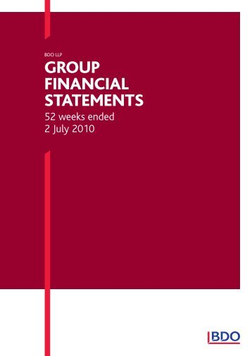 Group Financial StatementS - Uk.com