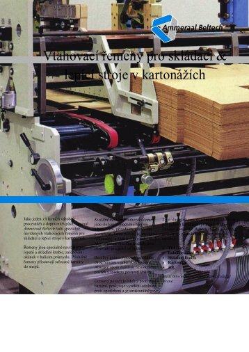 Vtahovací řemeny pro skládací & lepící stroje v kartonážích