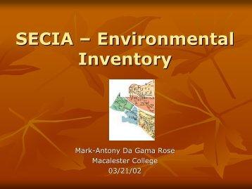 SECIA – Environmental Inventory