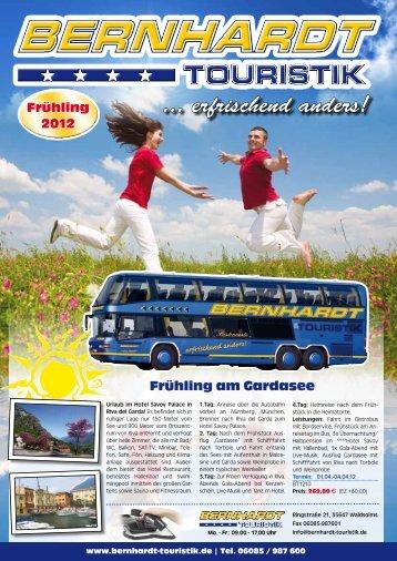 Frühling Sommer 2012 - Bernhardt-Touristik