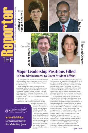 View the June 4, 2007 issue - Western Carolina University