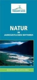 vortrags- und exkursionsprogramm 2007 - Naturpark Tiroler Lech