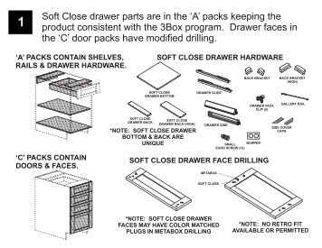 Soft Close drawer parts are in the - Euro-Rite Cabinets
