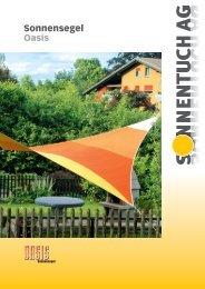 Oasis Sonnensegel Prospekt - Sonnentuch AG