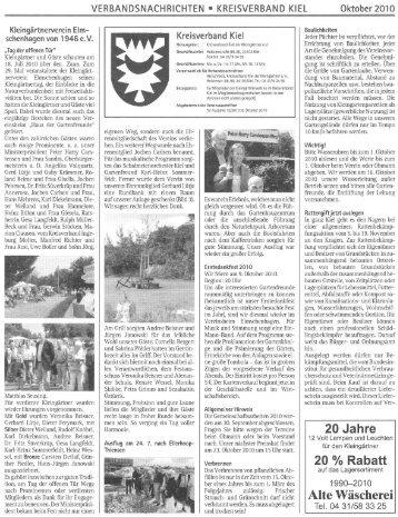kersig kiel verbandsnachrichten 10 2010 kleingartnerverein gaarden gmbh