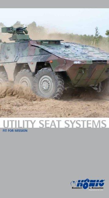 """prospect """"Utility Seat Systems"""" - König Komfort- und Rennsitze GmbH"""