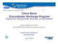 Chino Basin Chino Basin Groundwater Recharge Program