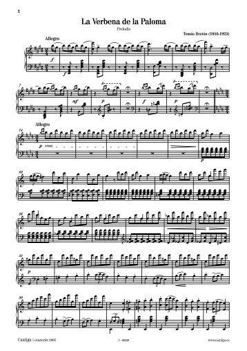 La Verbena de la Paloma. Selección - Cantiga e-Musicales