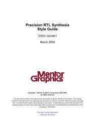 Precision RTL Synthesis Style Guide
