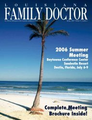 Spring Issue - Louisiana Academy of Family Physicians