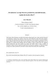 Do firm characteristics explain differences in the border effect across ...