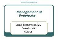 Management of g Endoleaks